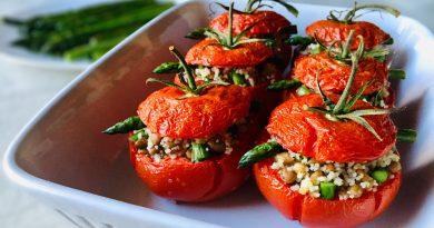 Pomodori ripieni con Cous Cous, Asparagi e Lenticchie | Vegan | Filippo Prime