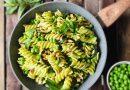 Fusilli con pesto di zucchine, piselli e menta | Vegan | Filippo Prime