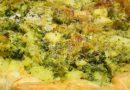 Crostata con broccoli e crescenza. Usiamo la verdura di stagione.