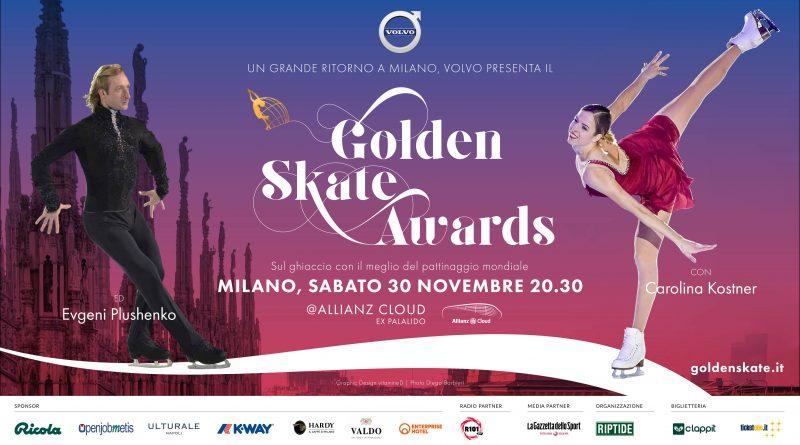 GOLDEN SKATE AWARDS, a Milano il 30 Novembre le stelle del ghiaccio tra cui Carolina Kostner