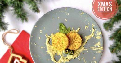 Sformatini di zucchine e lupini con crema di cannellini e basilico | XMas Edition | Vegan | Filippo Prime