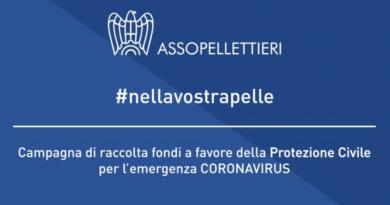 #NELLAVOSTRAPELLE   La Campagna di Assopellettieri a sostegno della Protezione Civile