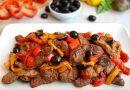 Straccetti di seitan con peperoni e olive nere | Vegan | Filippo Prime