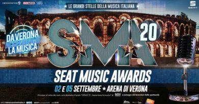 SEAT MUSIC AWARDS 2020 | edizione speciale a sostegno dei lavoratori dello spettacolo, il 2 e 5 settembre all'ARENA DI VERONA e in diretta su RAI 1 condotti da CARLO CONTI e VANESSA INCONTRADA.