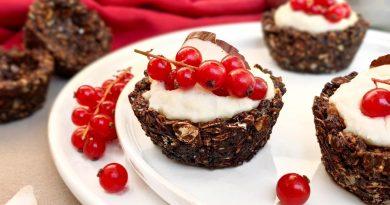 Cestini di avena e cioccolato con crema al cocco | Vegan | Filippo Prime