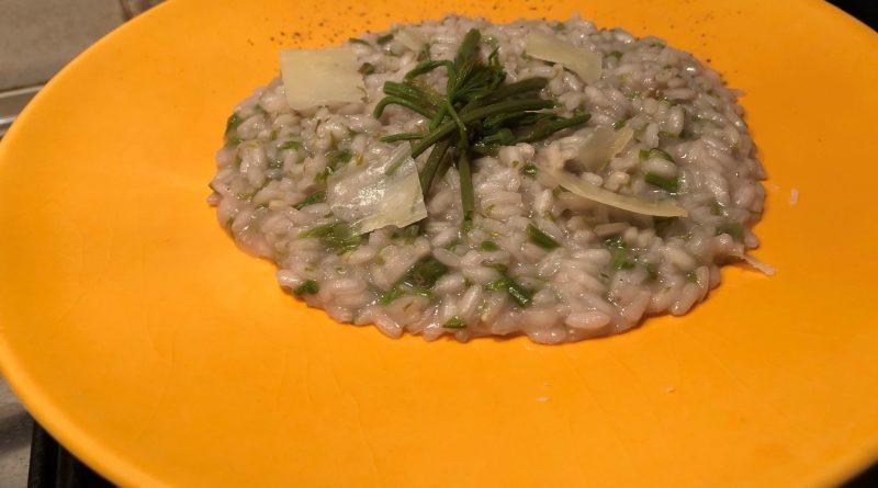 Risotto con Luvertin (germogli luppolo selvatico) | Chef Fabrizio Gotta