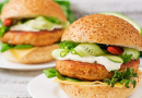 Fish burger con prezzemolo fresco